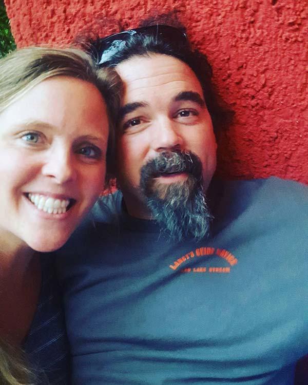 Image of Ashley Morrill and Ryan Eldridge both appear on Maine Cabin Masters